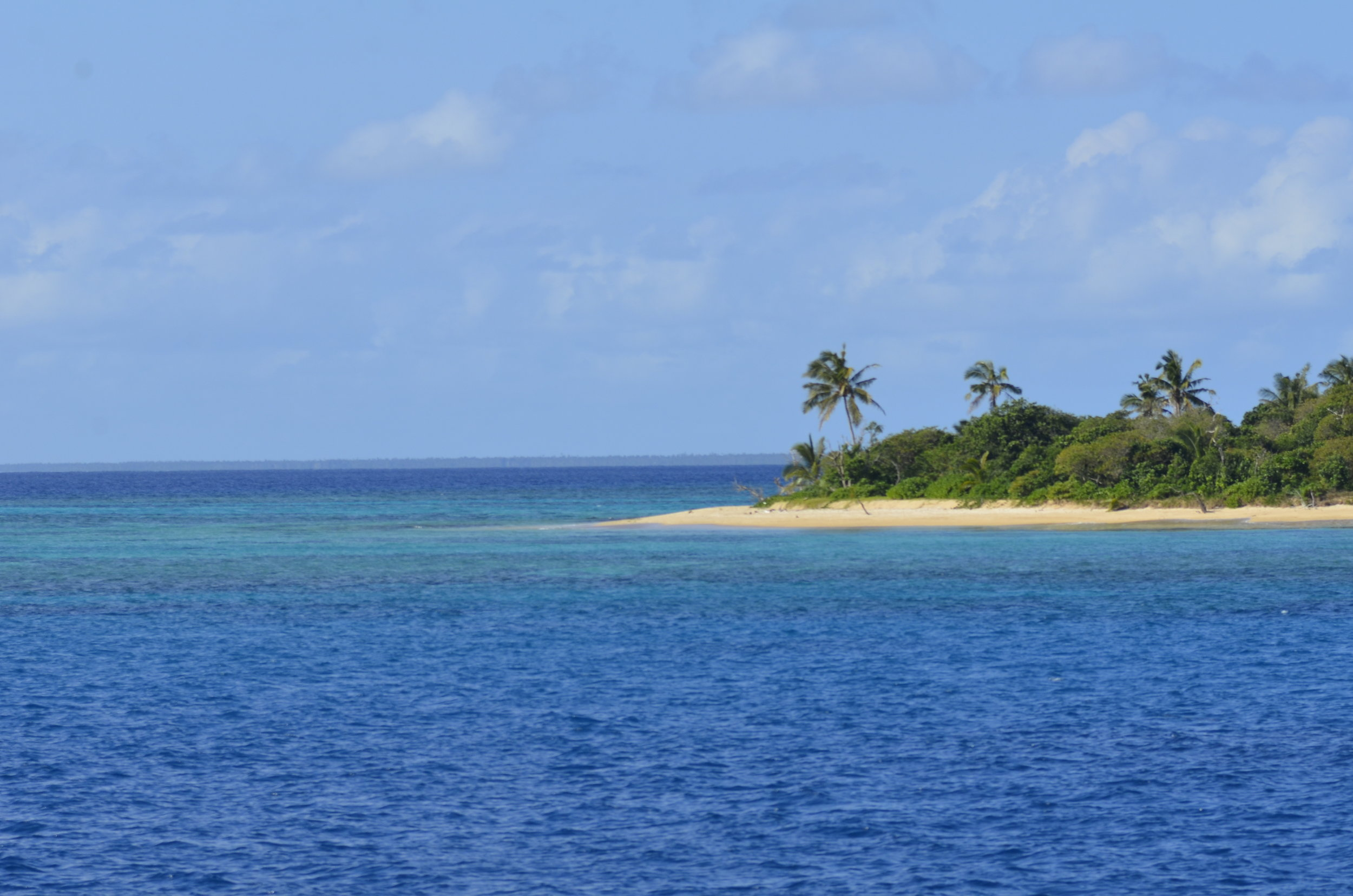 We traveled between lots of islands that looked just like this.