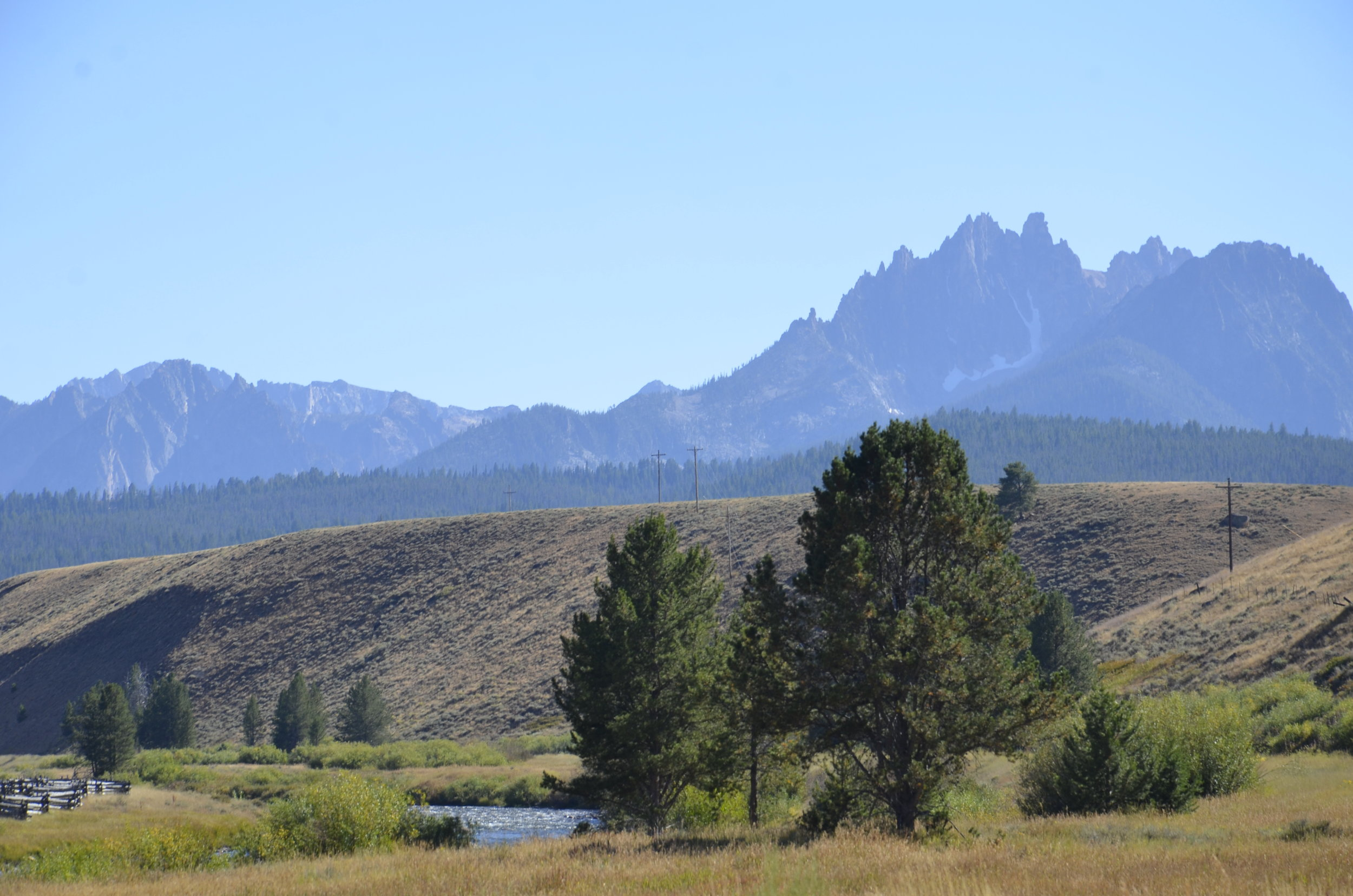 You can see why they're called the Sawtooth Mountains.