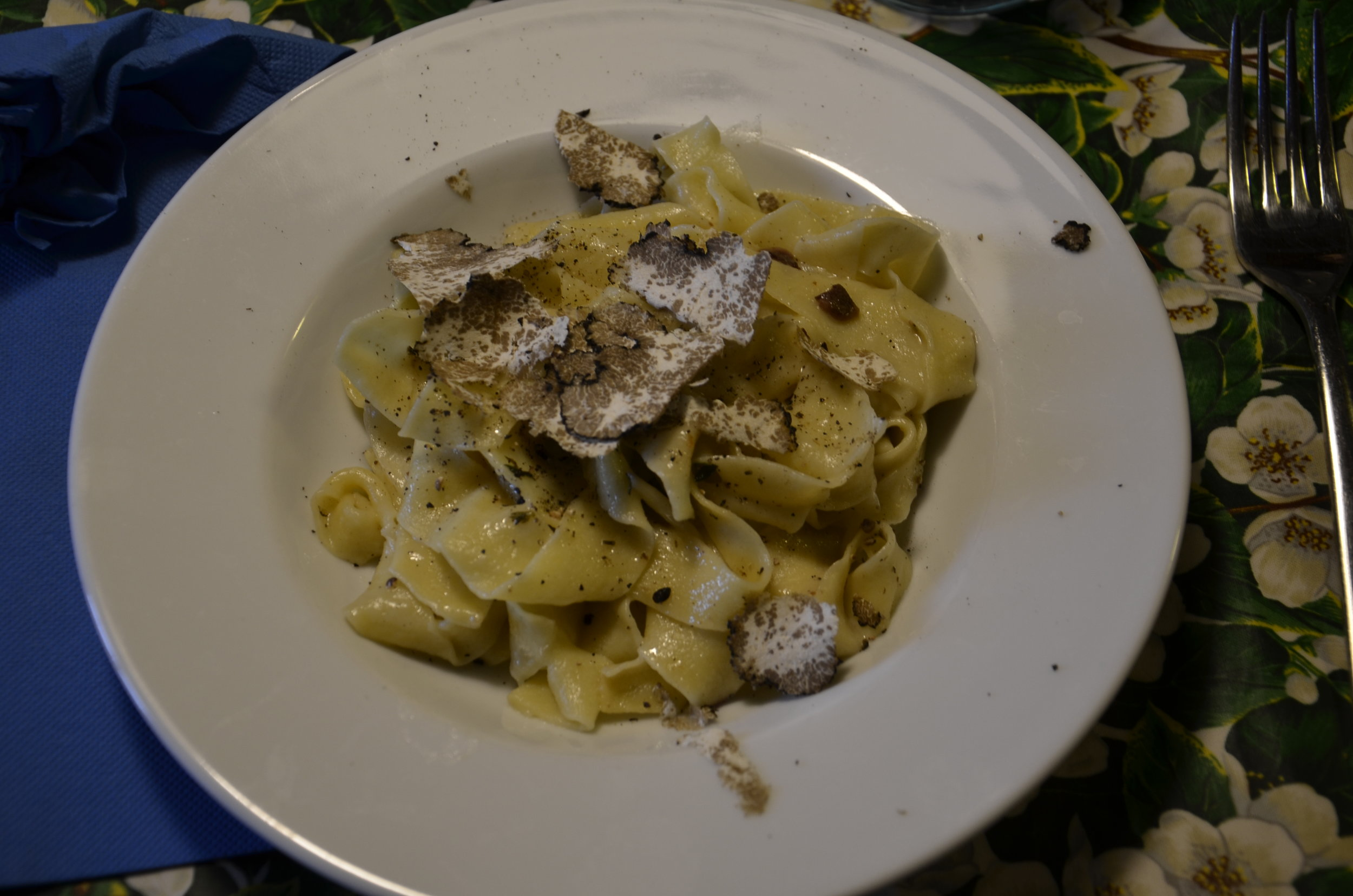 shaved truffles on our hand made noodles