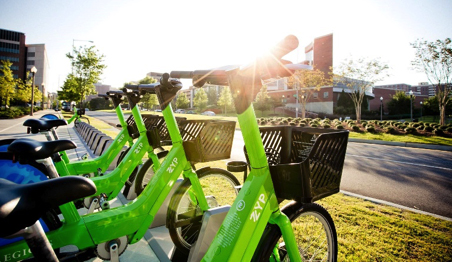 Zyp Bikeshare bikes, traditional docked