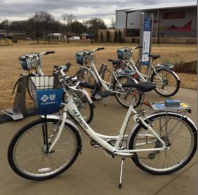 """Zagster Bike, Huntsville, """"semi-dockless"""""""