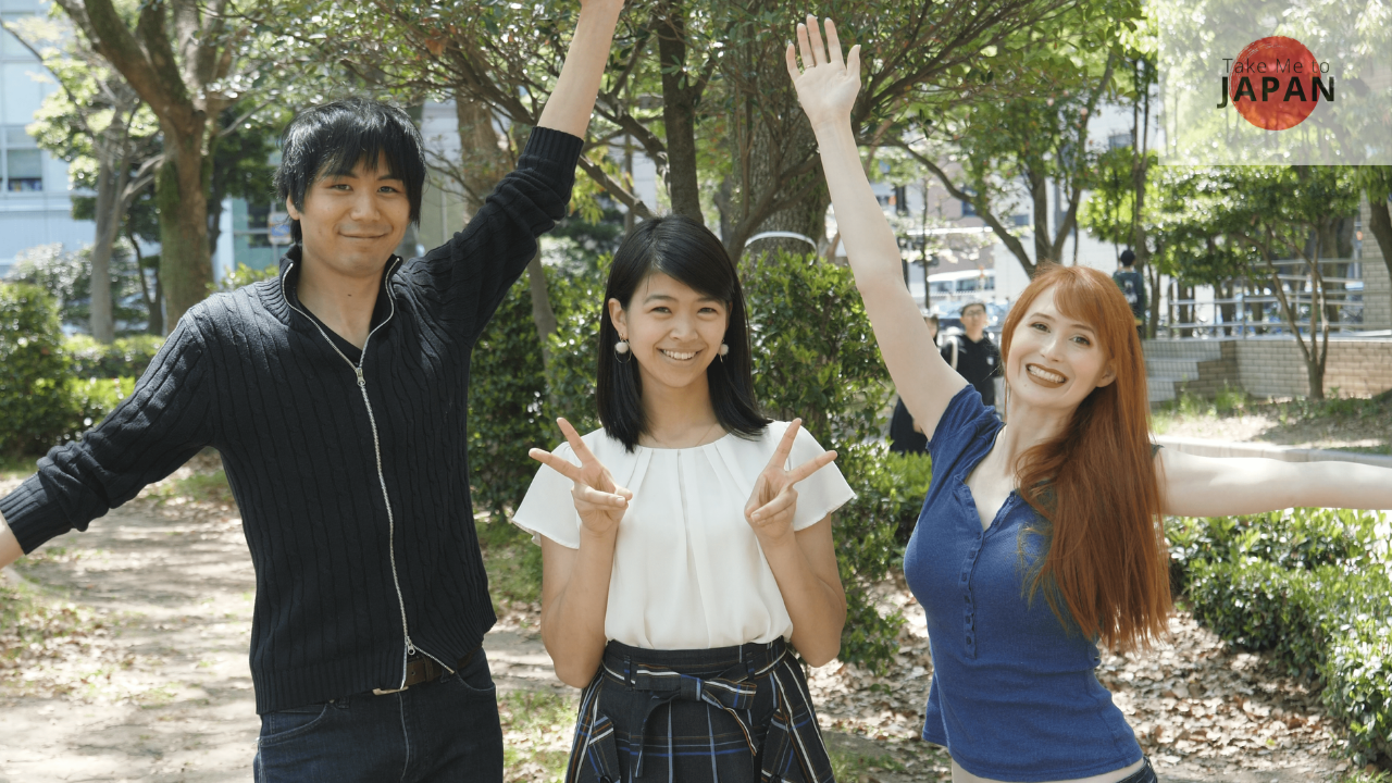 Sayaka with Rachel and Jun!