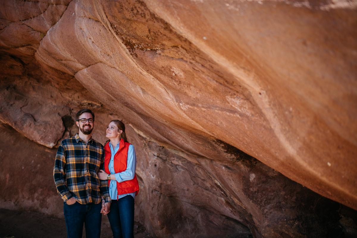 Denver engagement session at Red Rocks