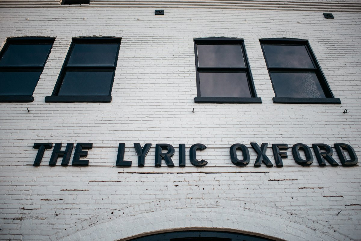 Mississippi Wedding Photography at the lyric theater on the oxford square