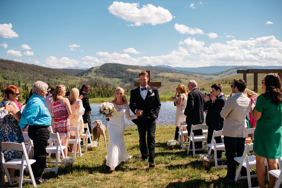 ceremony destination wedding photography at strawberry creek ranch in granby colorado