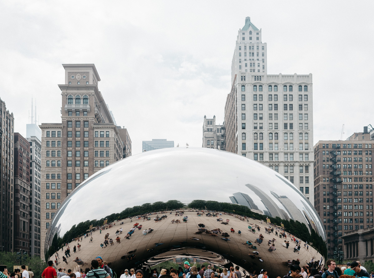 The bean at chicago illinois by destination wedding photographer
