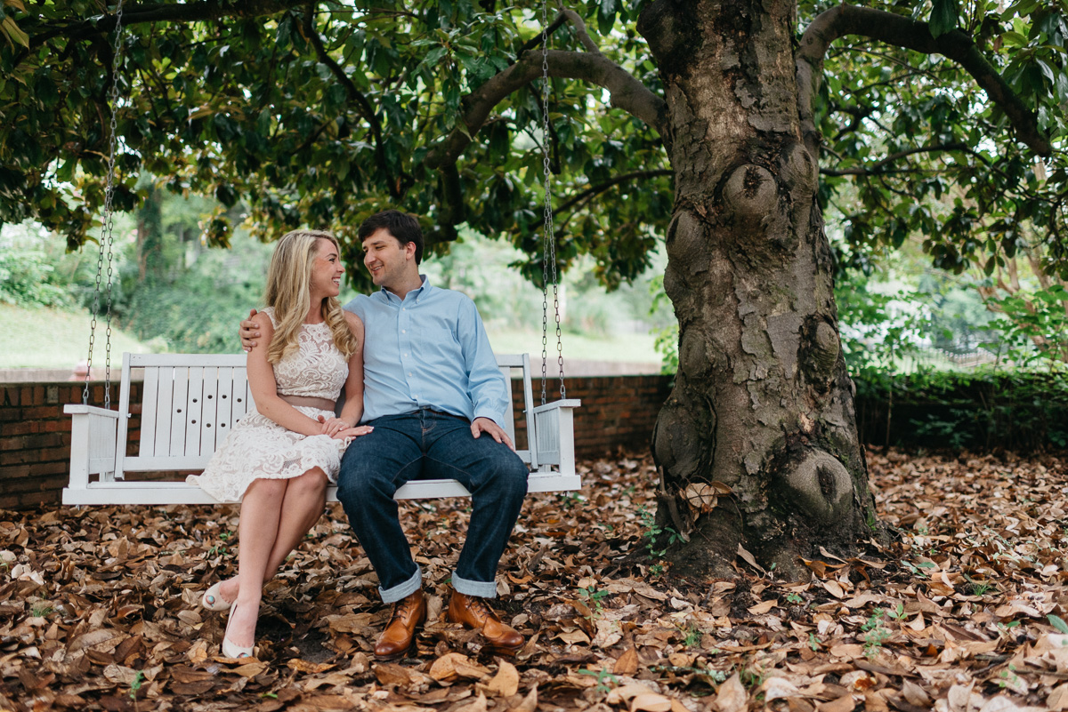 Mississippi engagement photography in Water Valley