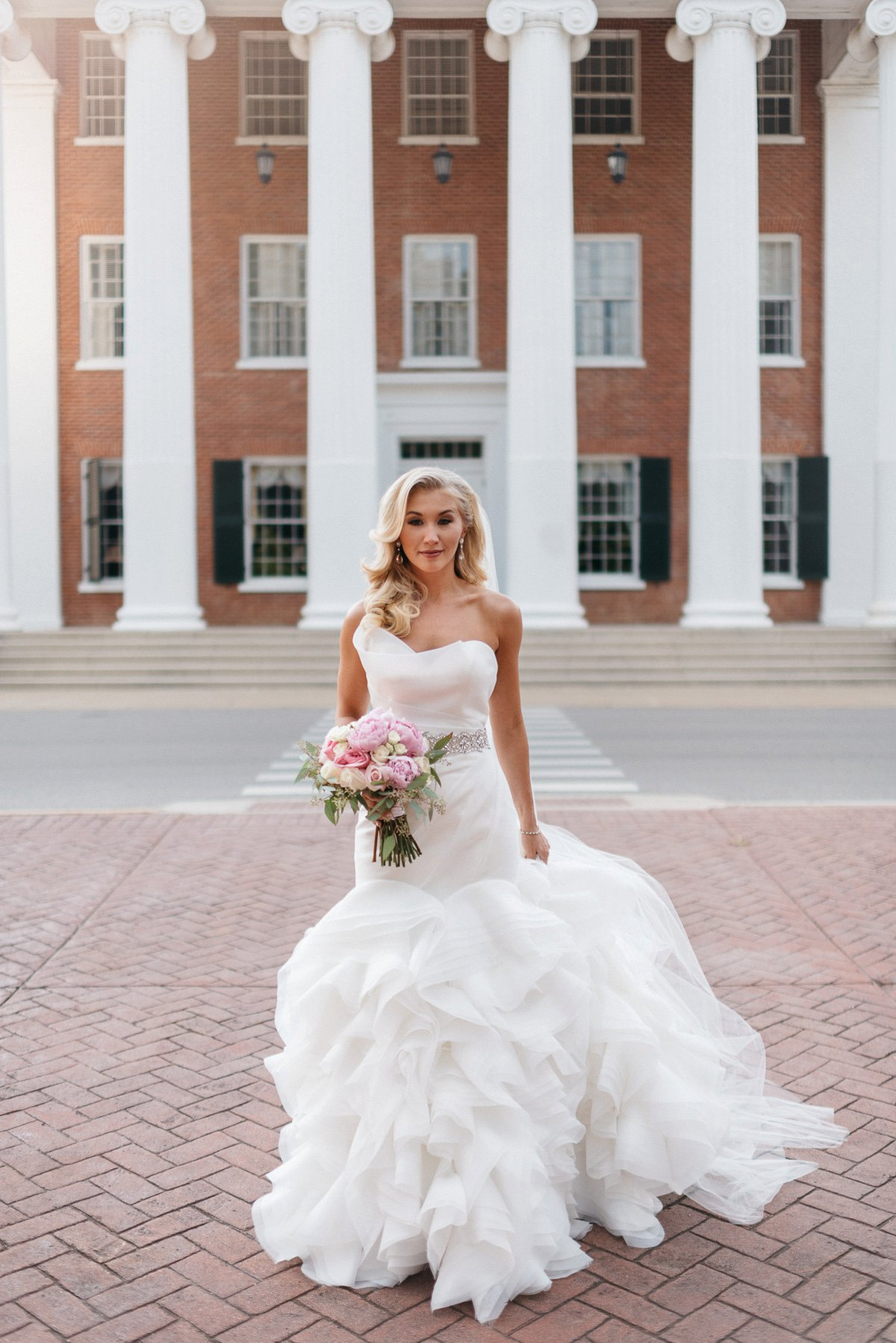 bridal wedding photography at lyceum on university campus