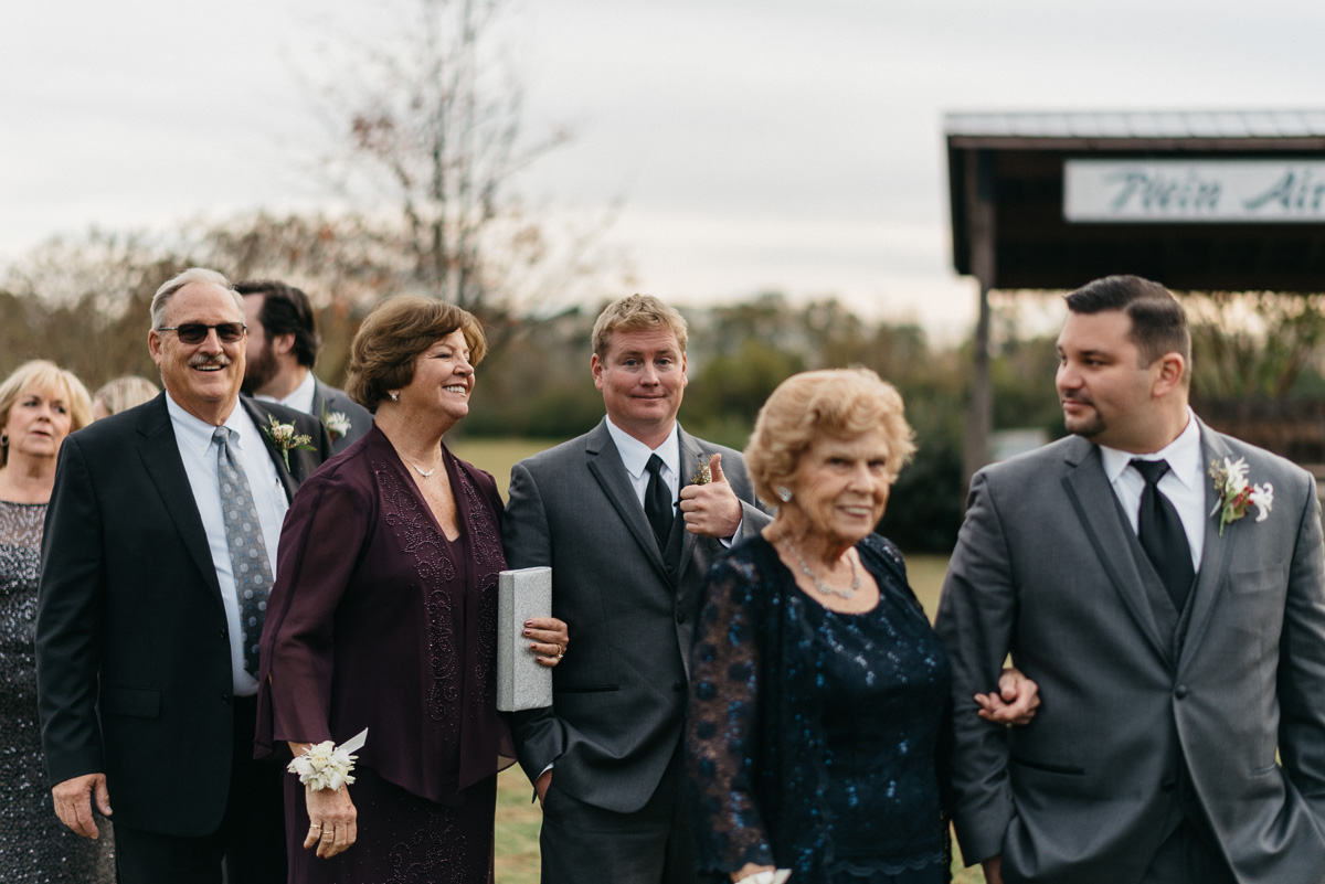 outdoor wedding ceremony at the mill at plein air in taylor mississippi