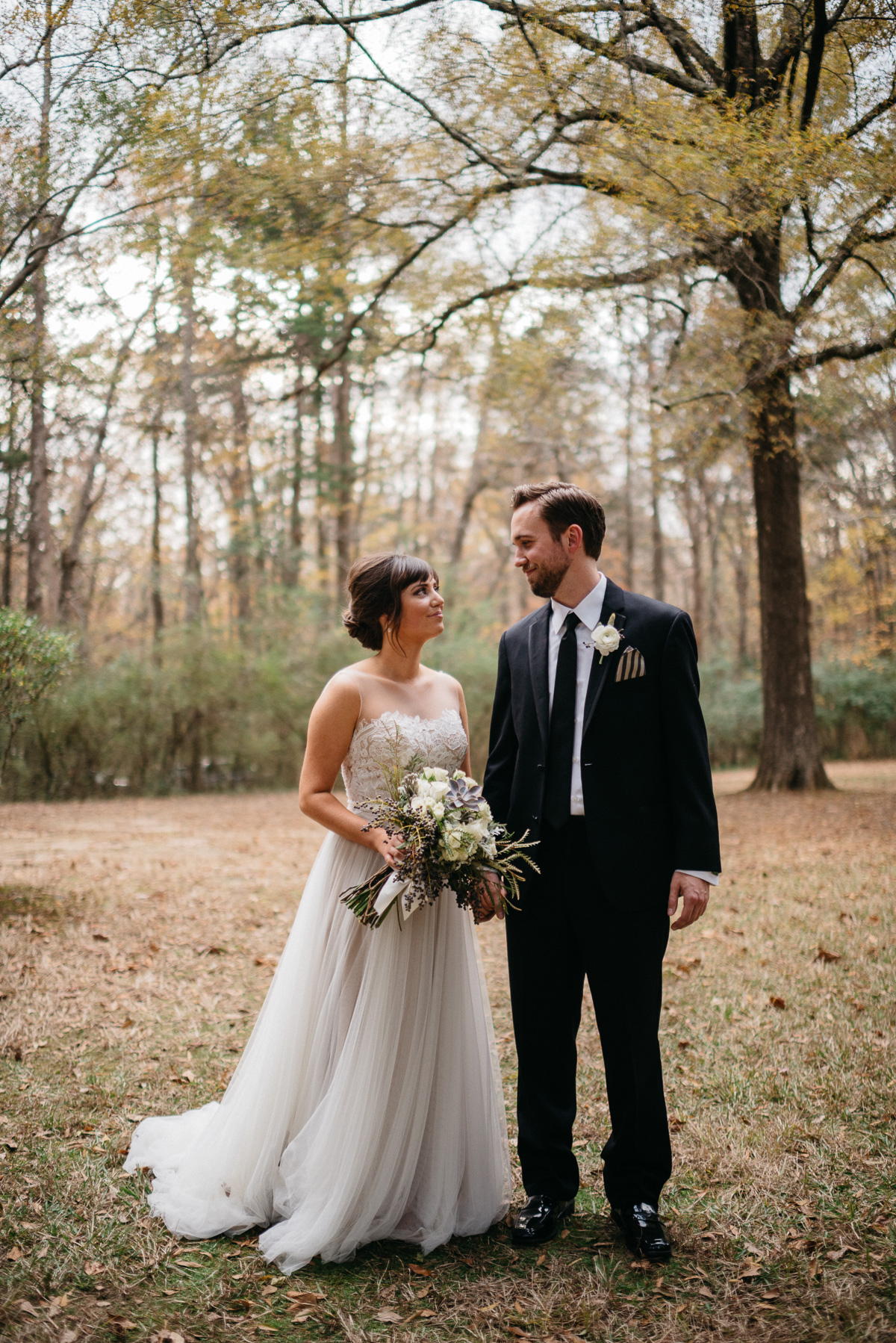 Elopement photography in the woods at Rowan Oak, Faulkner's home