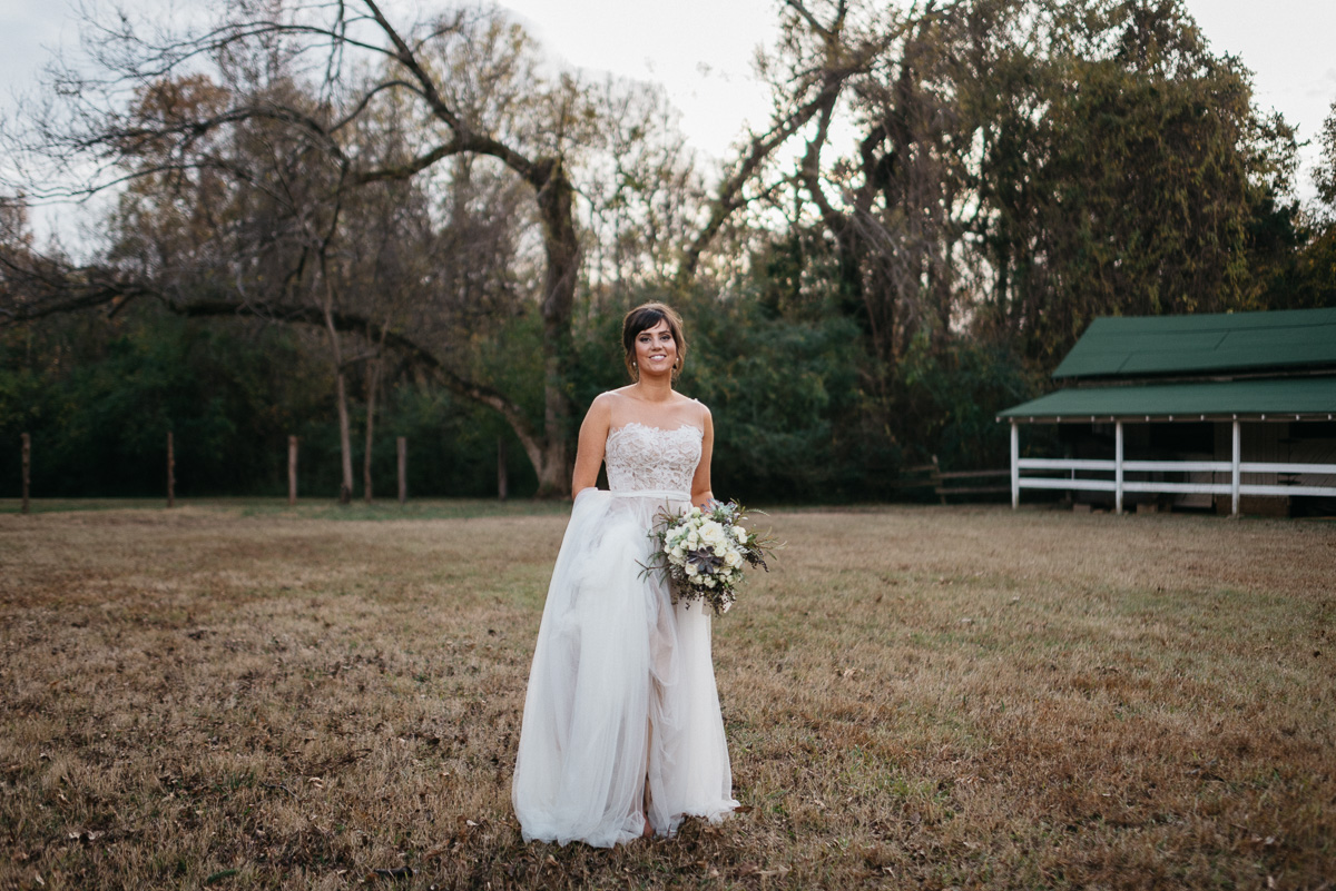 Elopement bridal photography on the grounds at Rowan Oak, Faulkner's home