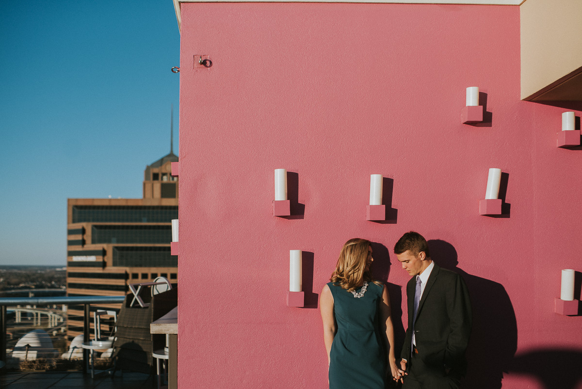 madison roof top memphis engagement photography