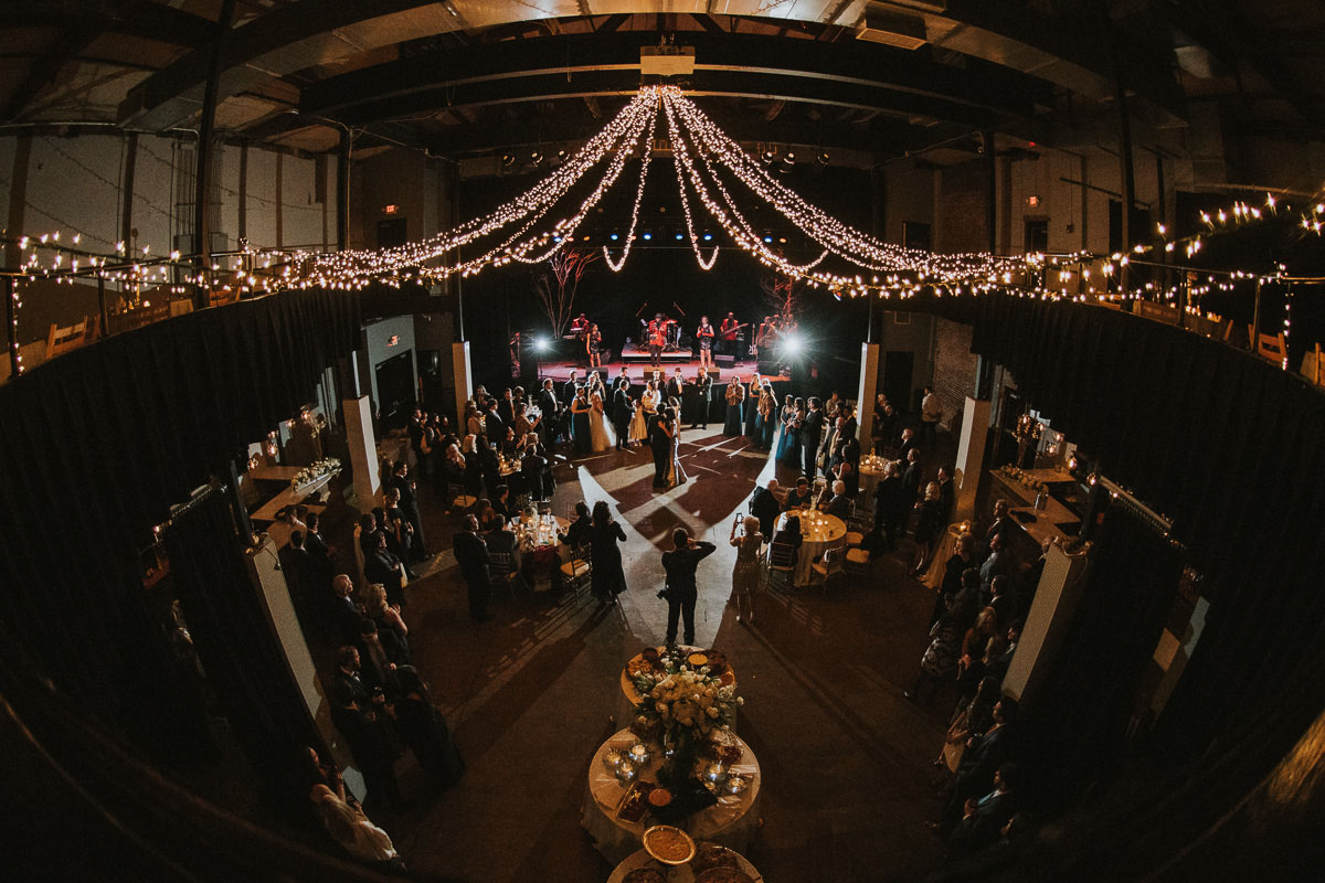 wedding day reception at the lyric theater in oxford, MS