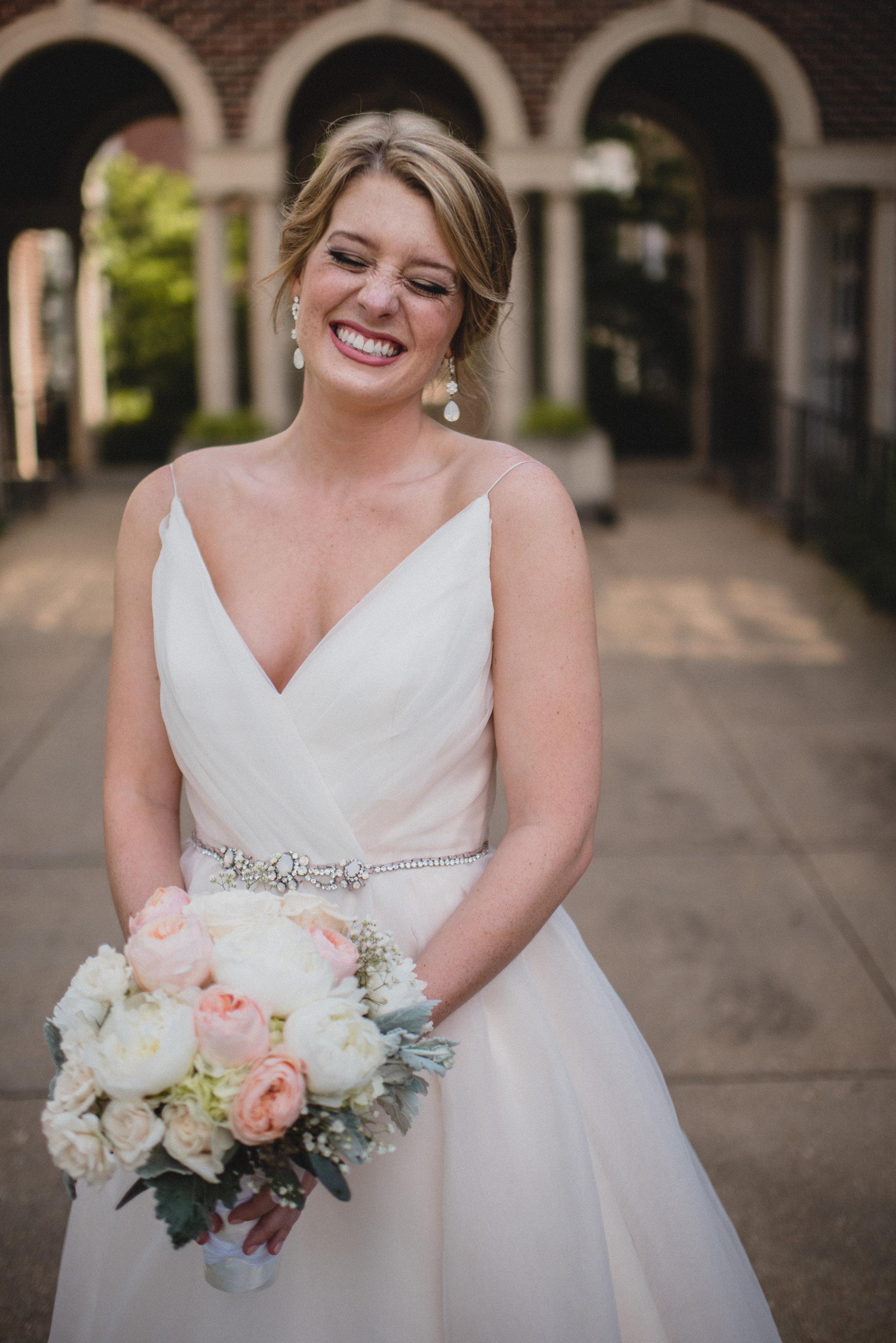 bridal wedding photography at paris yates chapel at ole miss in oxford, ms