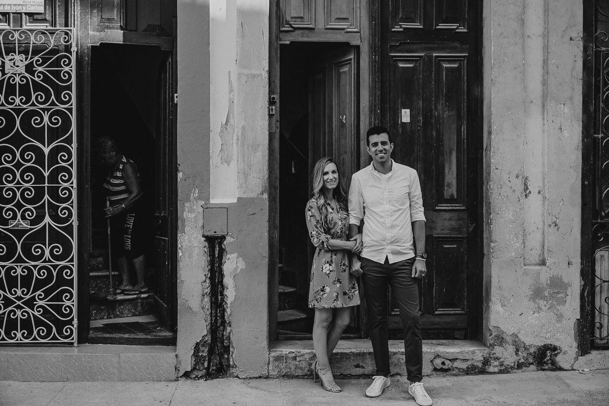 engagement session in old havana cuba with destination wedding photographer danny k