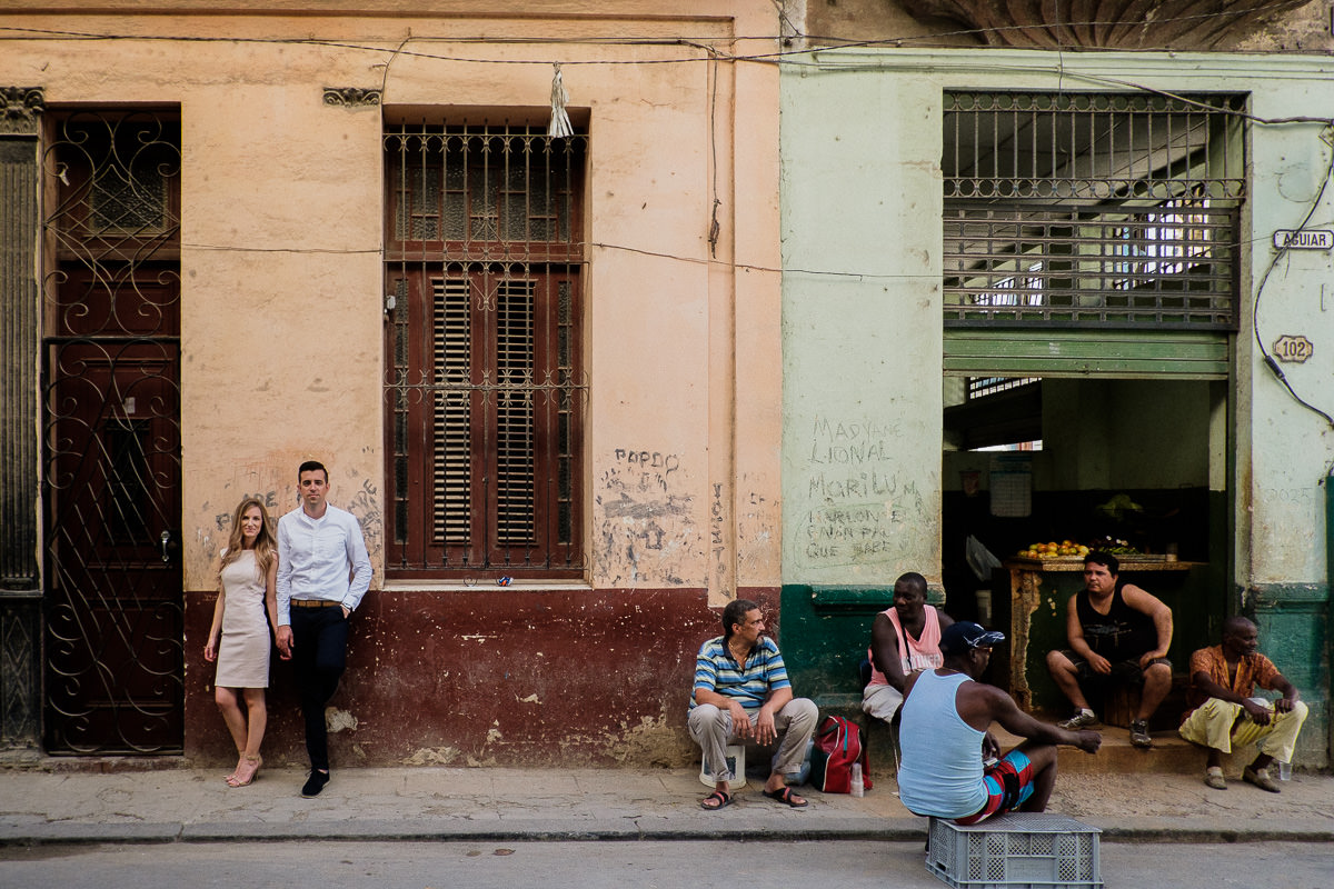 destination elopement photography along the malecon in old havana, cuba by wedding photographer danny k