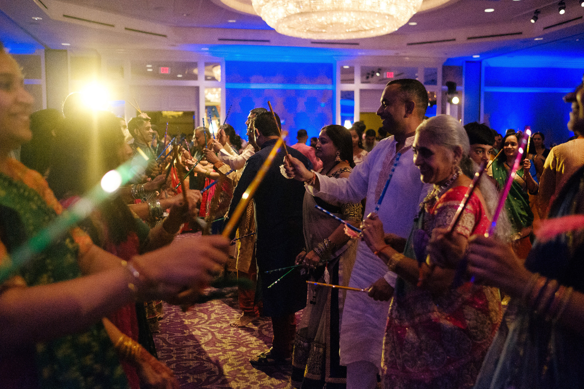 Indian wedding garba at the hilton city center in charlotte nc