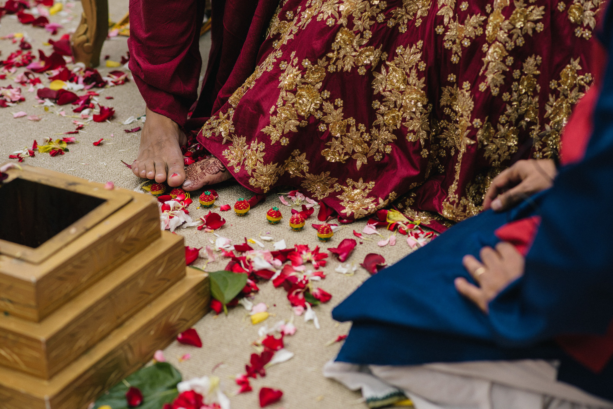 destination indian wedding ceremony at the ritz carlton charlotte NC