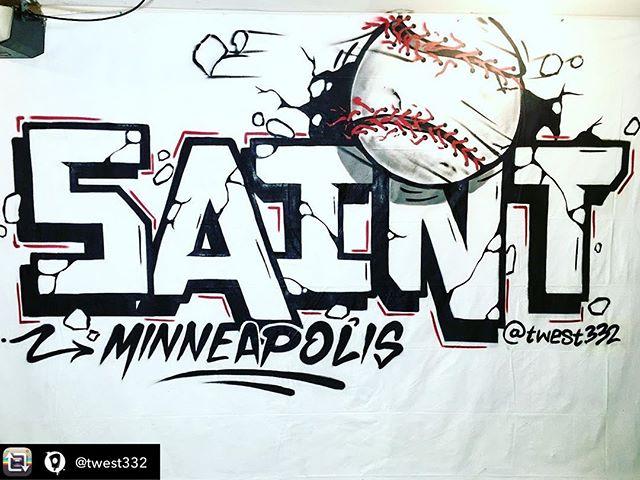 Collab w/ @twest332 #graffiti #gate34 #twins #homeruns #baseball