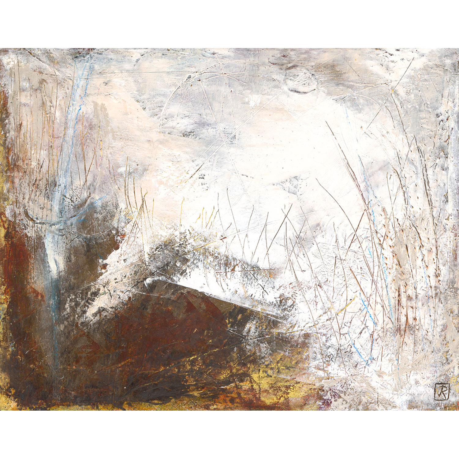 Omahu Dunes  $480 Cold wax and mixed media on multi board   Enquire