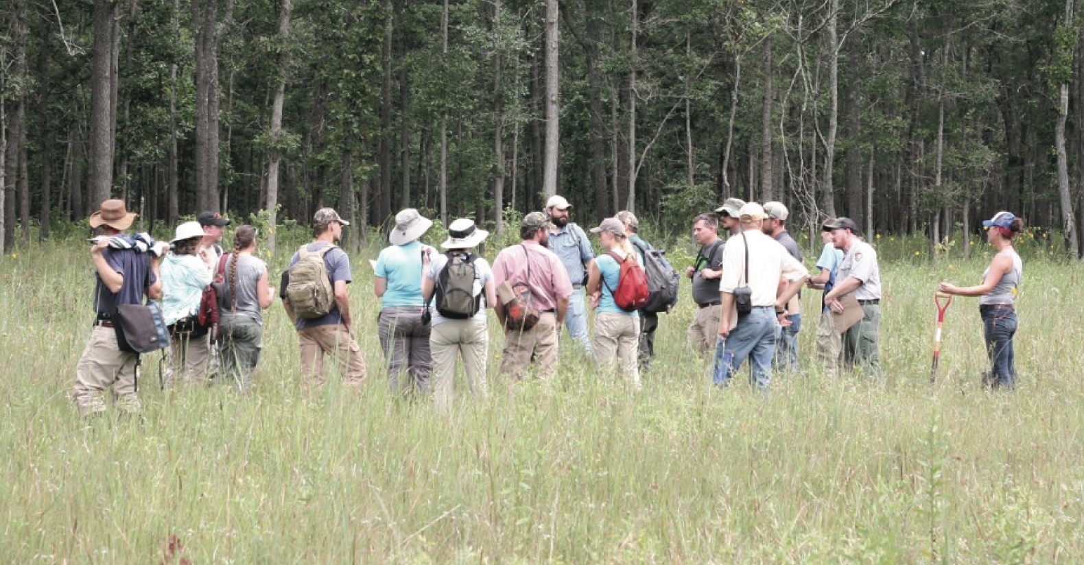 SGI Director, Dr. Dwayne Estes discussing the significance of native grasslands with various land managers.