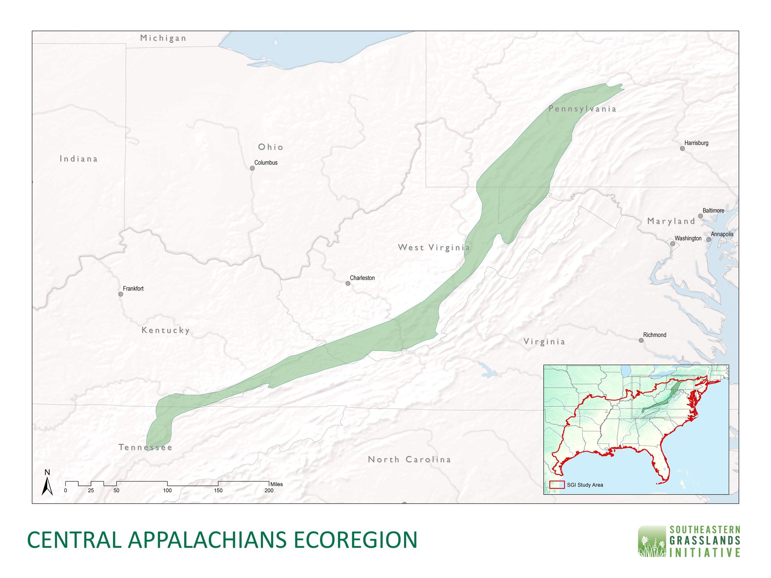 Central Appalachian Mountains