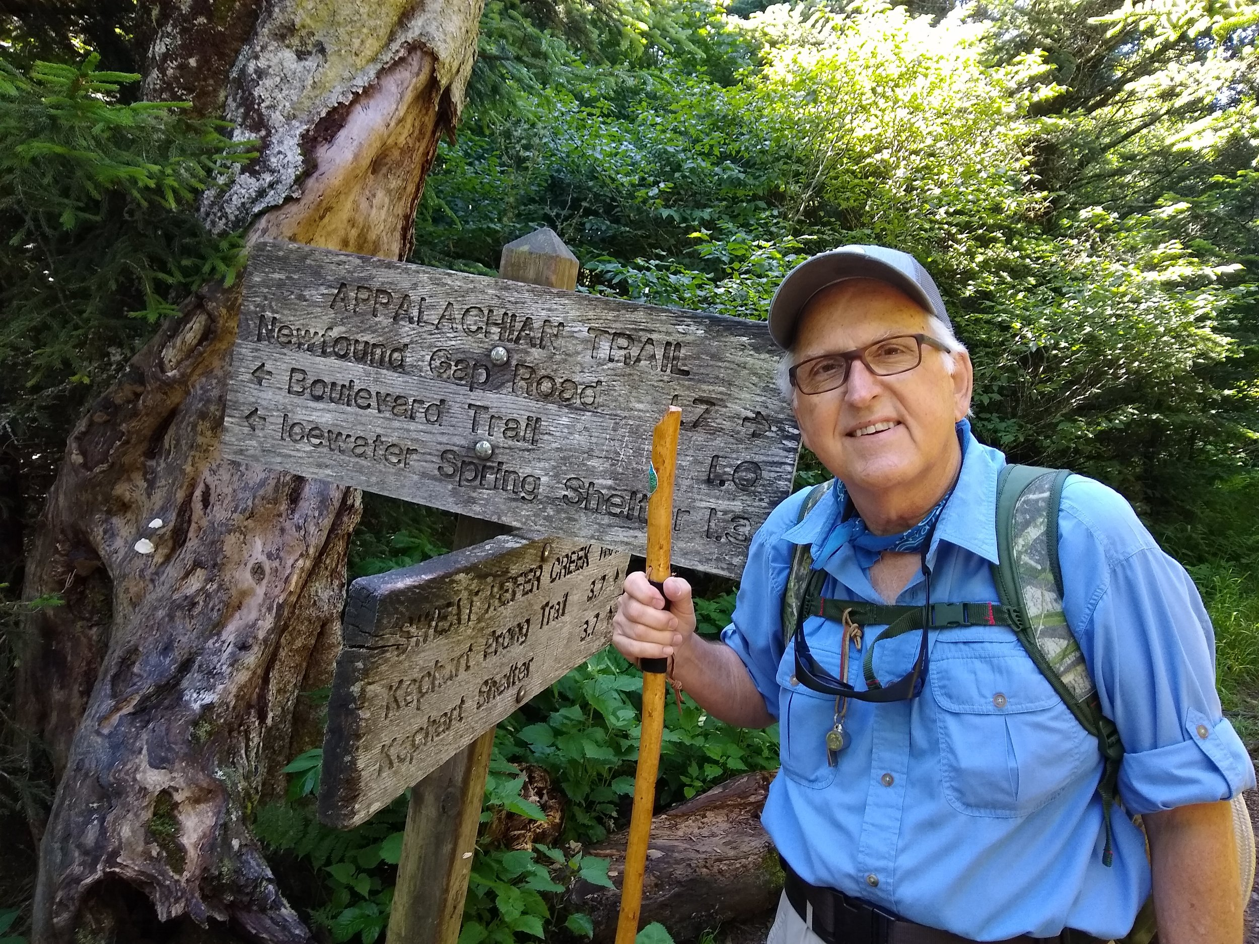 Starting my hike to Mt. LeConte via the Appalachian Trail.