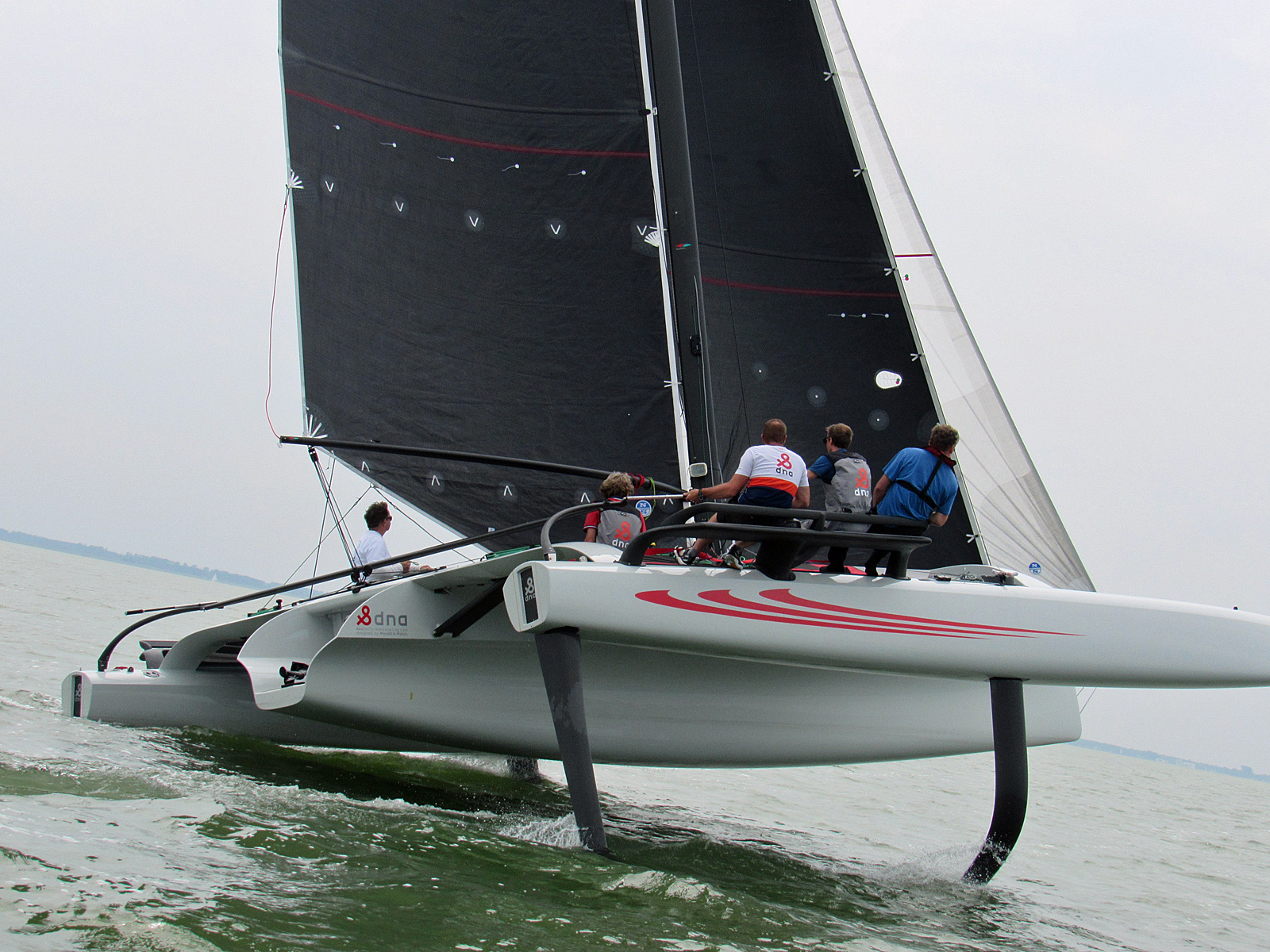 The TF10 Trimaran currently being built in Holland for Tony Considine.