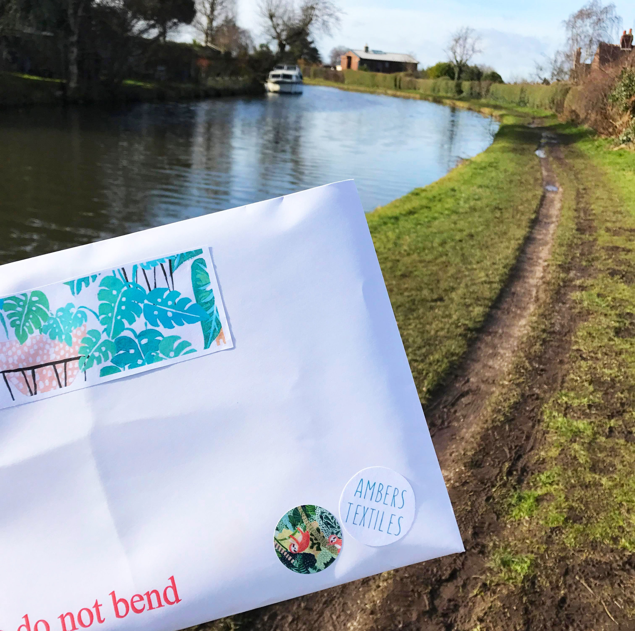 11:30 am - Post Office time! Its sunny today so I decided to take the scenic route today down the Bridgwater canal.