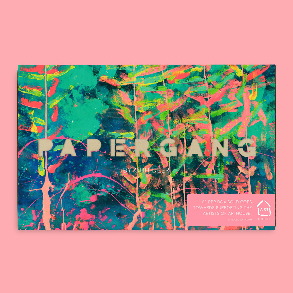 GET SUBSCRIBED! - Show your support for the incredible artists of ARTHOUSE by subscribing to our April Papergang box! £1 per box goes towards the charity.