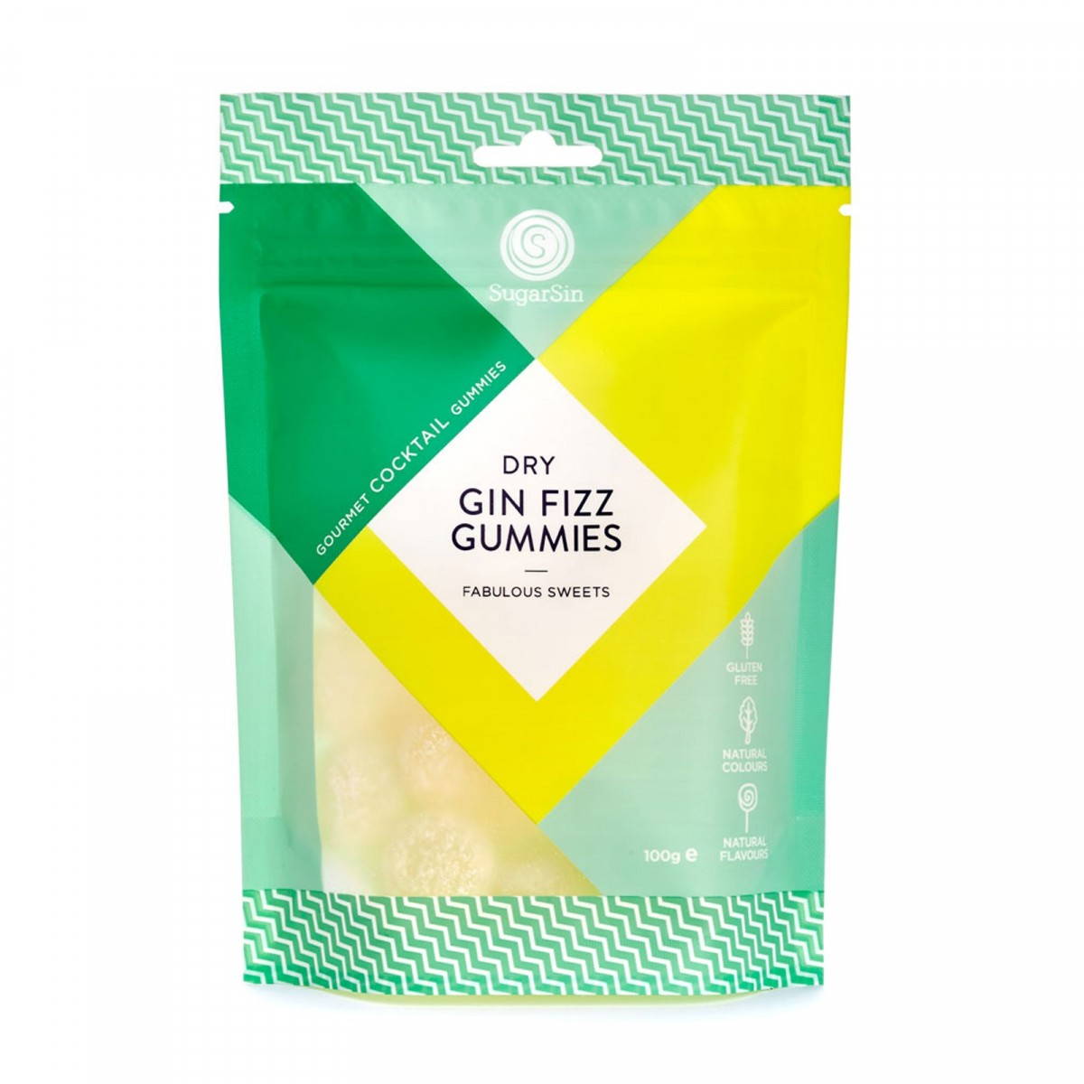 DRY GIN FIZZ GUMMIES - Not only are they snazzy sweets, they also taste of alcohol. What a win. A simple yet effective gift.