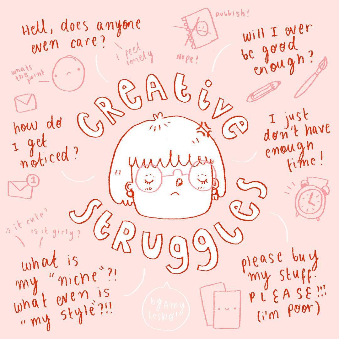 Creative Struggles by Amy Lesko