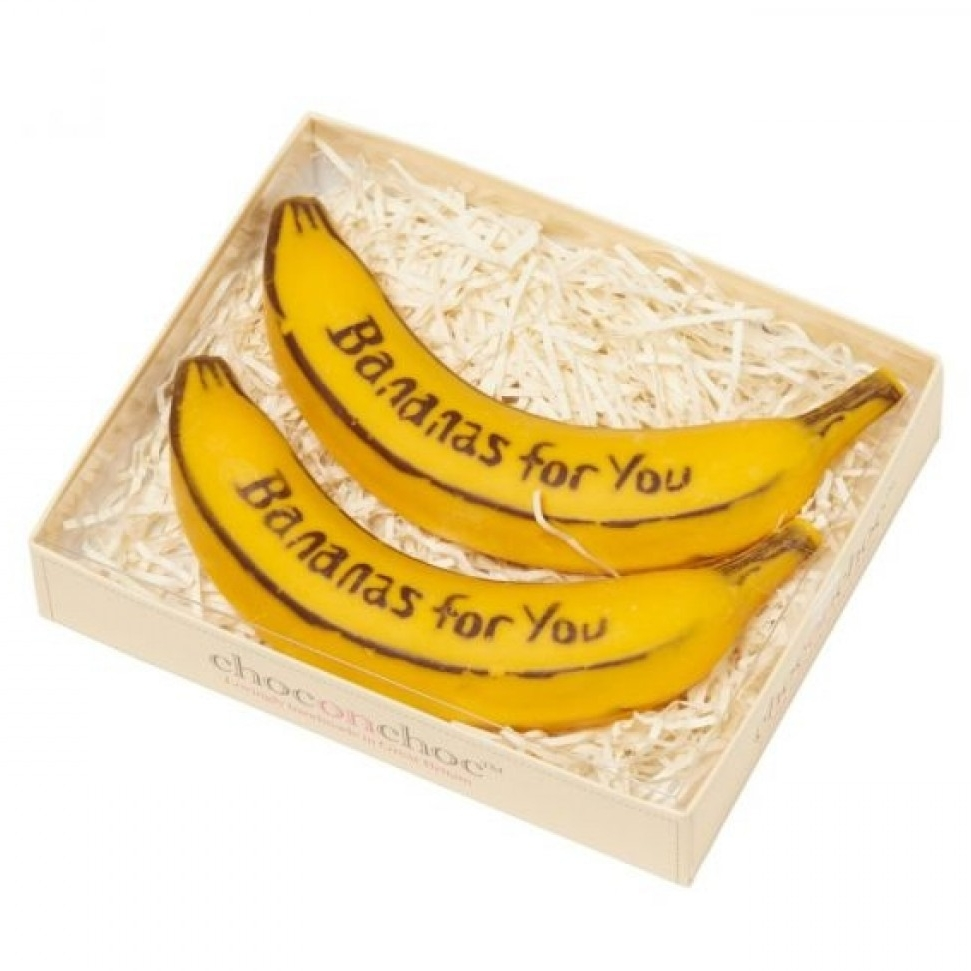 Chocolate Bananas - If you know someone who goes bananas for Belgian chocolate, then do we have an exciting new creation for you! This pair of handmade Belgian chocolate fruits really are the pick of the bunch.