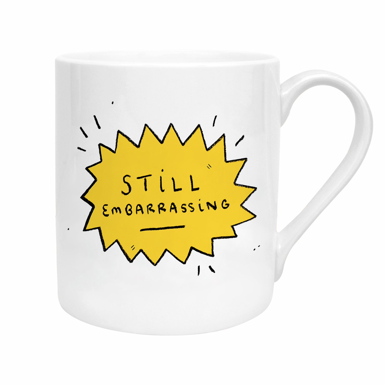 STILL EMBARRASSING MUG - Does your Mum still get out those embarrassing baby pics at EVERY event even though you've told her not to? Why not give your mum the badge of honour in the form of this mug from Amy Lesko.