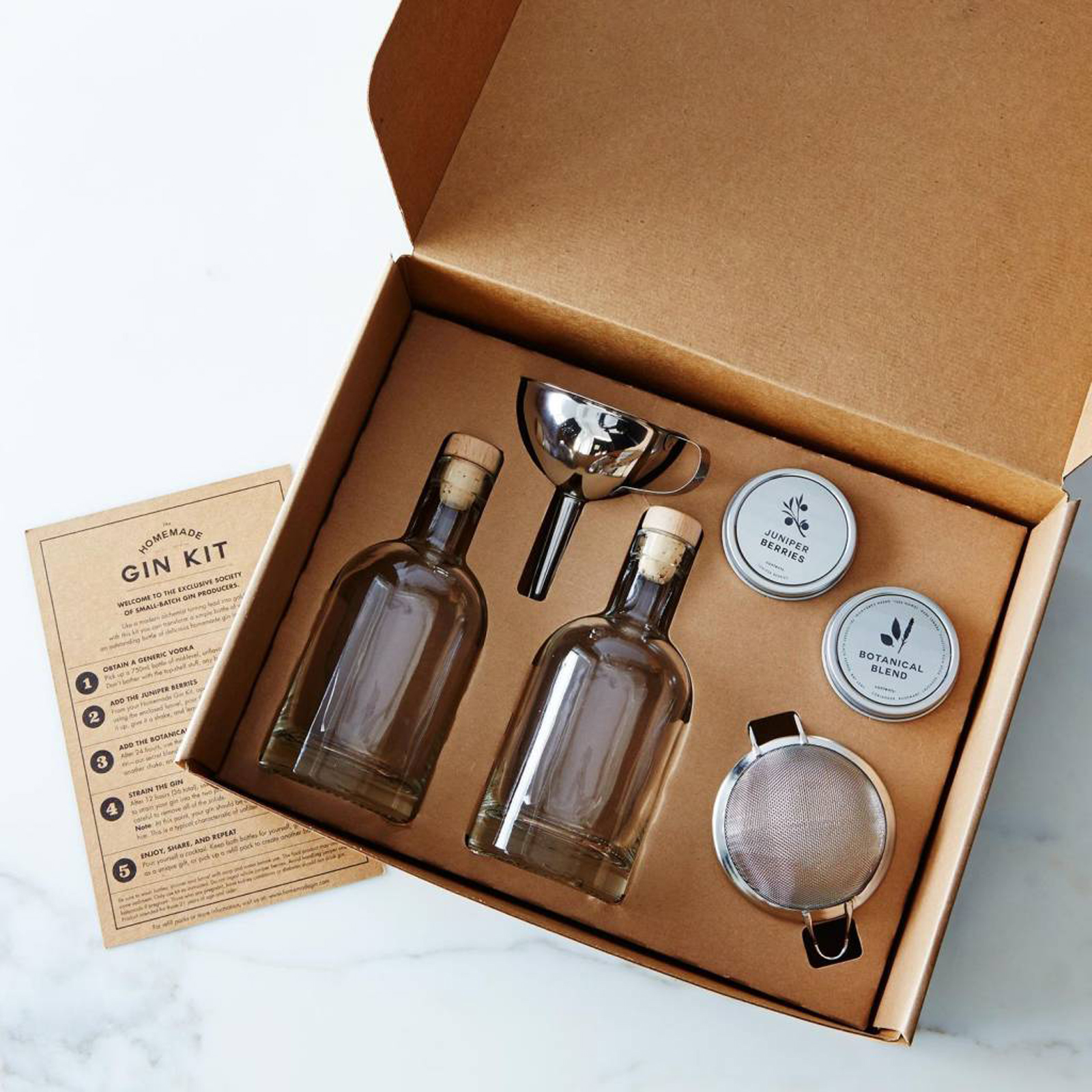 THE HOMEMADE GIN KIT - Is your mum a gin lover? Well we've got the perfect gin gift for her! This kit contains everything you need to transform a standard bottle of vodka to your mums very own gin!