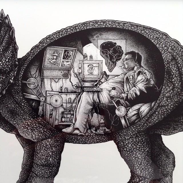Paul Jackson Nedry's revenge drawing