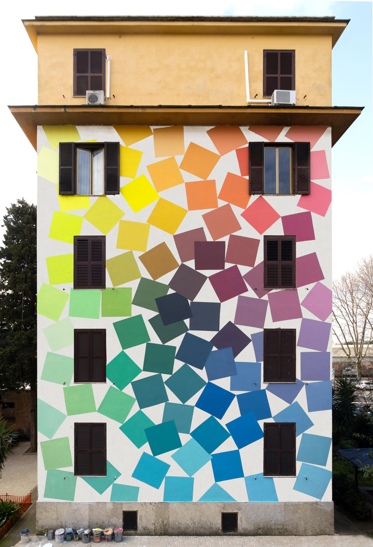 colour block house