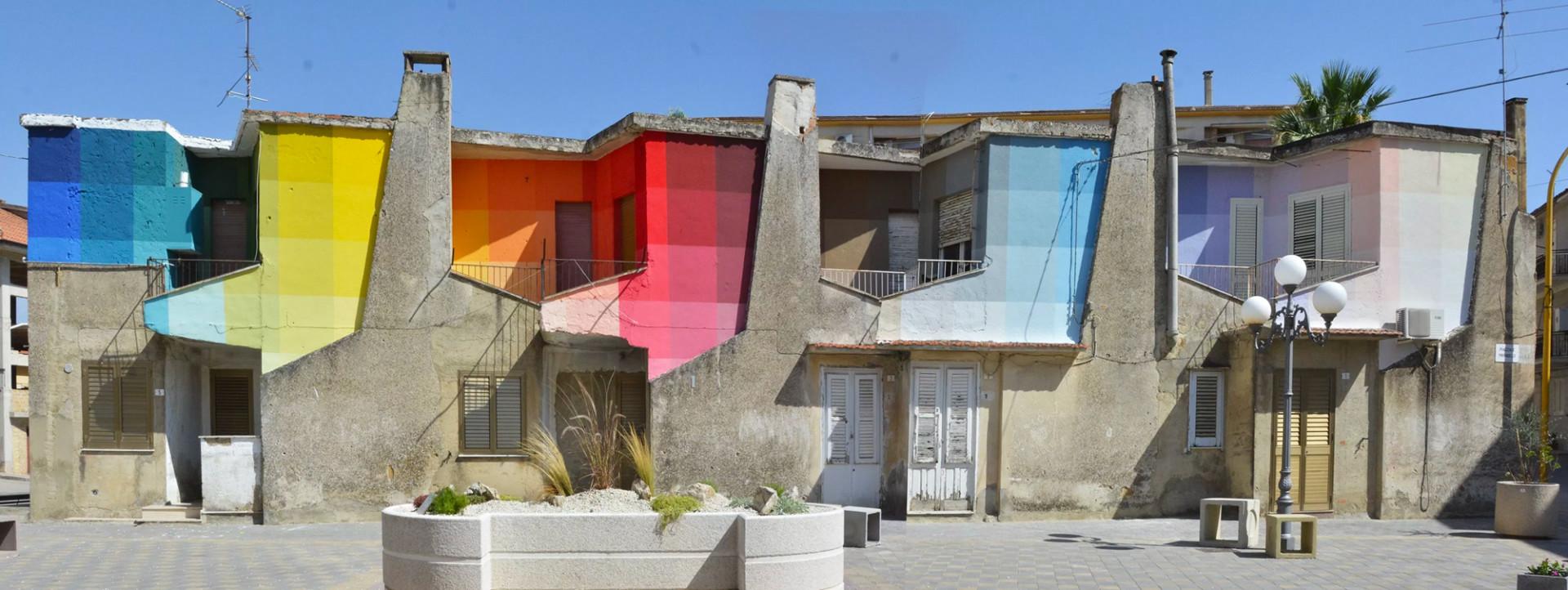 block colour wall mural