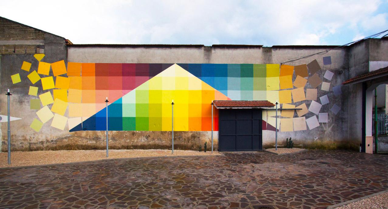 colour wall mural