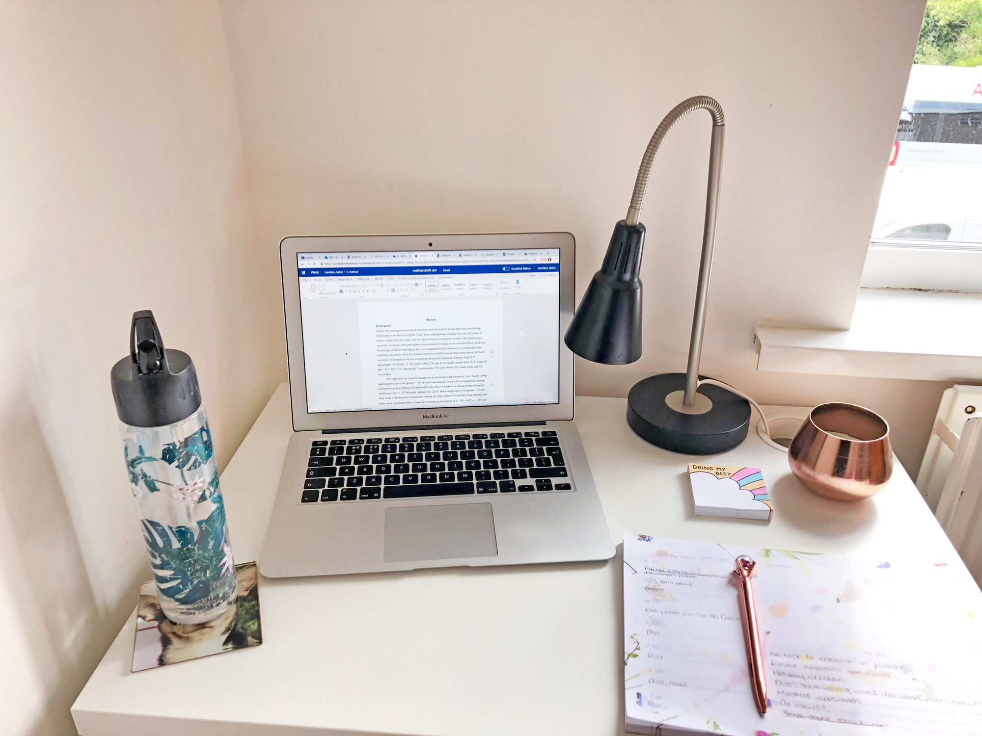 Take a peek at Selina's desk featuring our sticky notes and desk planner! Such a productive space!