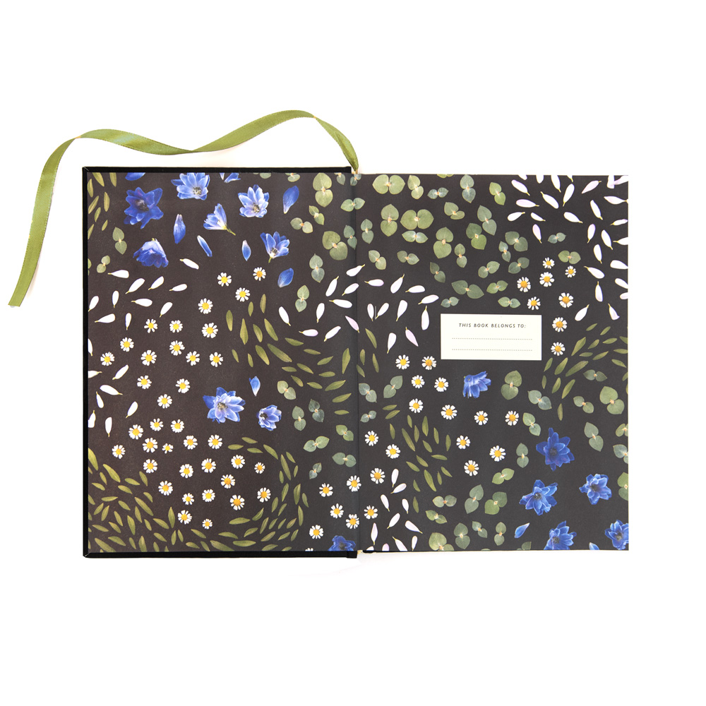 MDG-CB-001-A5 Floral Primordia Cloth Bound Notebook 2.jpg