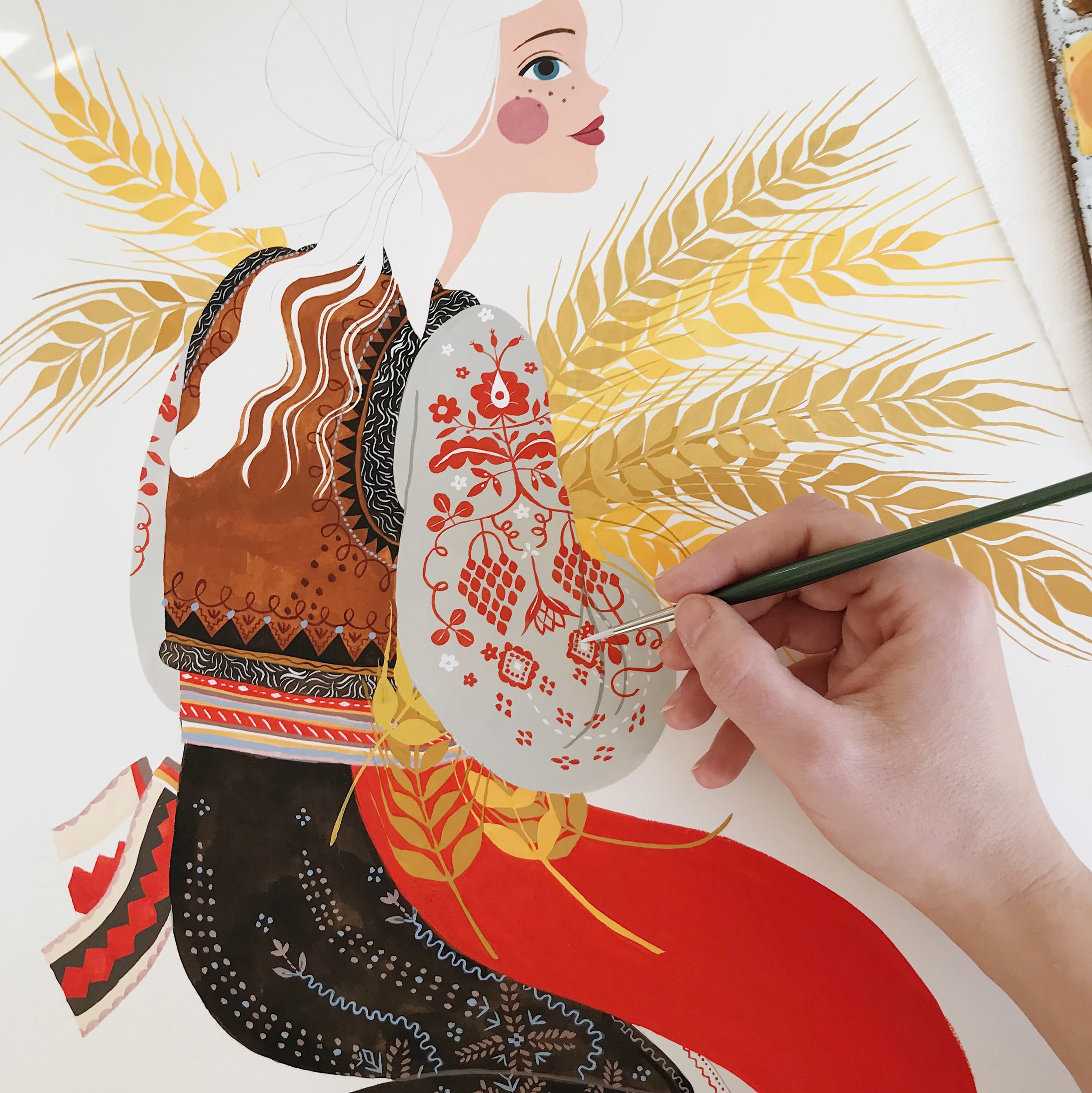 Oana Befort folk art illustration