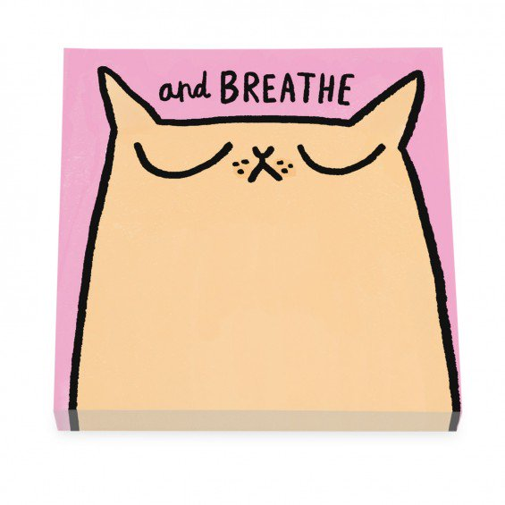 breath cat sticky notes Gemma Correll