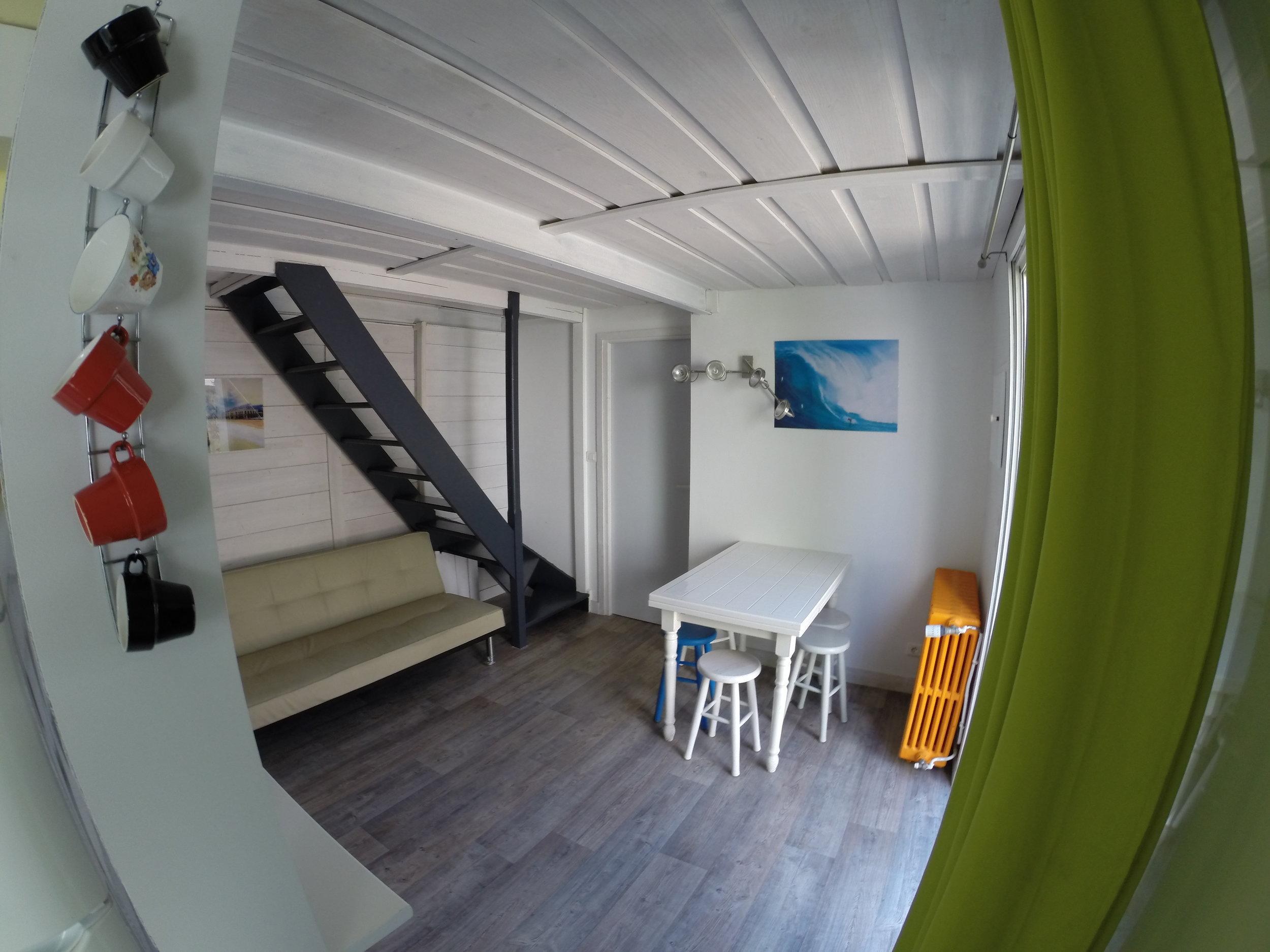 surf camp biarritz Maison Surf House, la cote des basques - salon