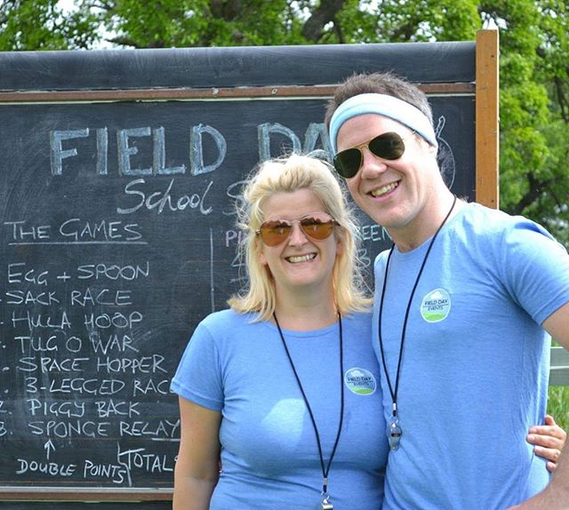 Happy Team @fielddayerrol #havingafieldday #perthshire #teambuilding #familybusiness #schoolsports #blackboard #activehen #scottishwedding #activescotland
