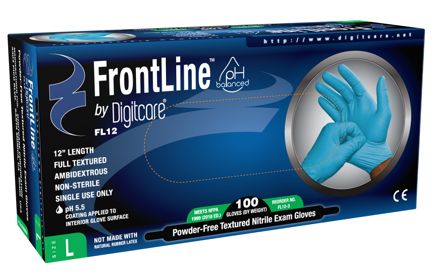 FrontLine™ FL12 Powder-Free Nitrile Exam  Gloves