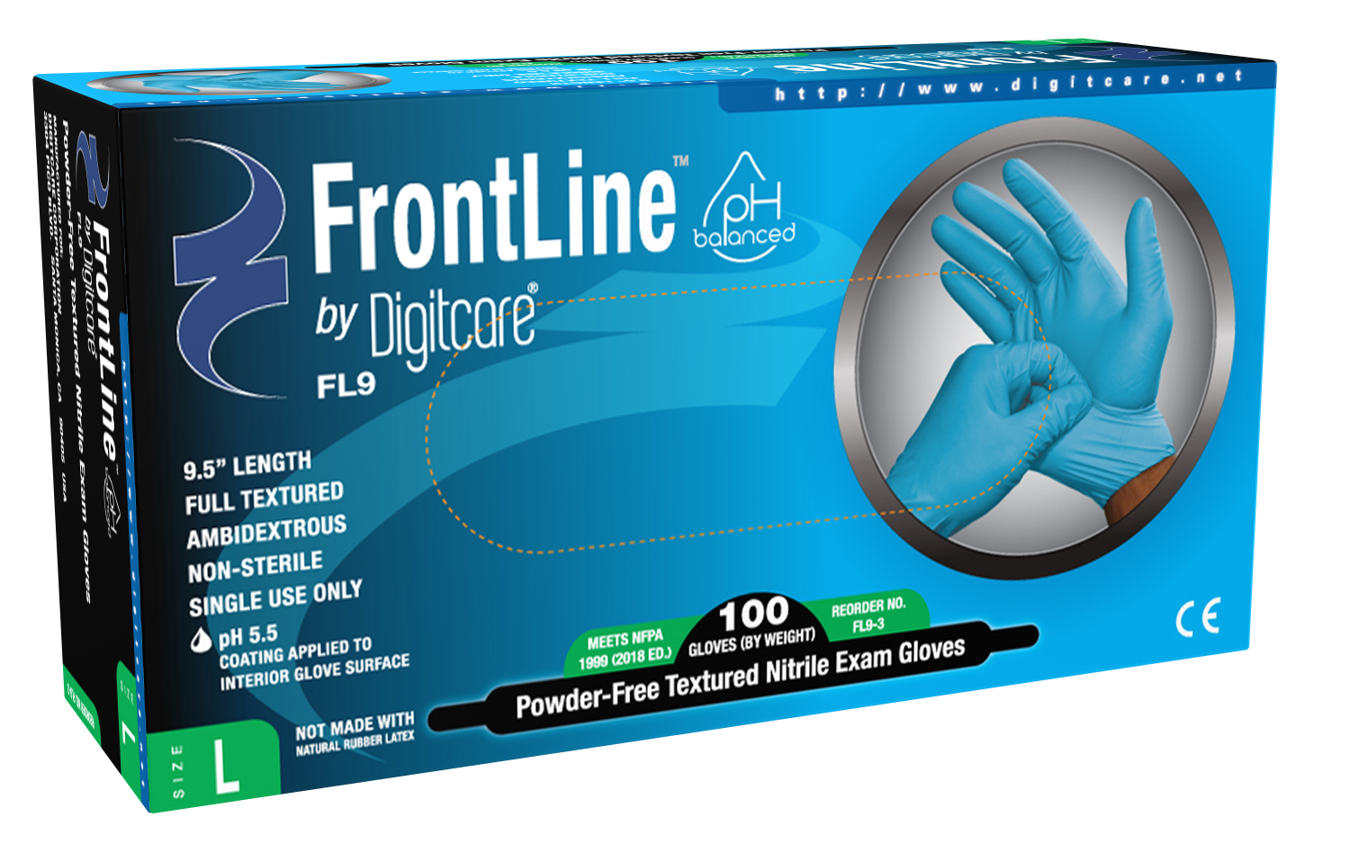 FrontLine™ FL9 Powder-Free Nitrile Exam Gloves