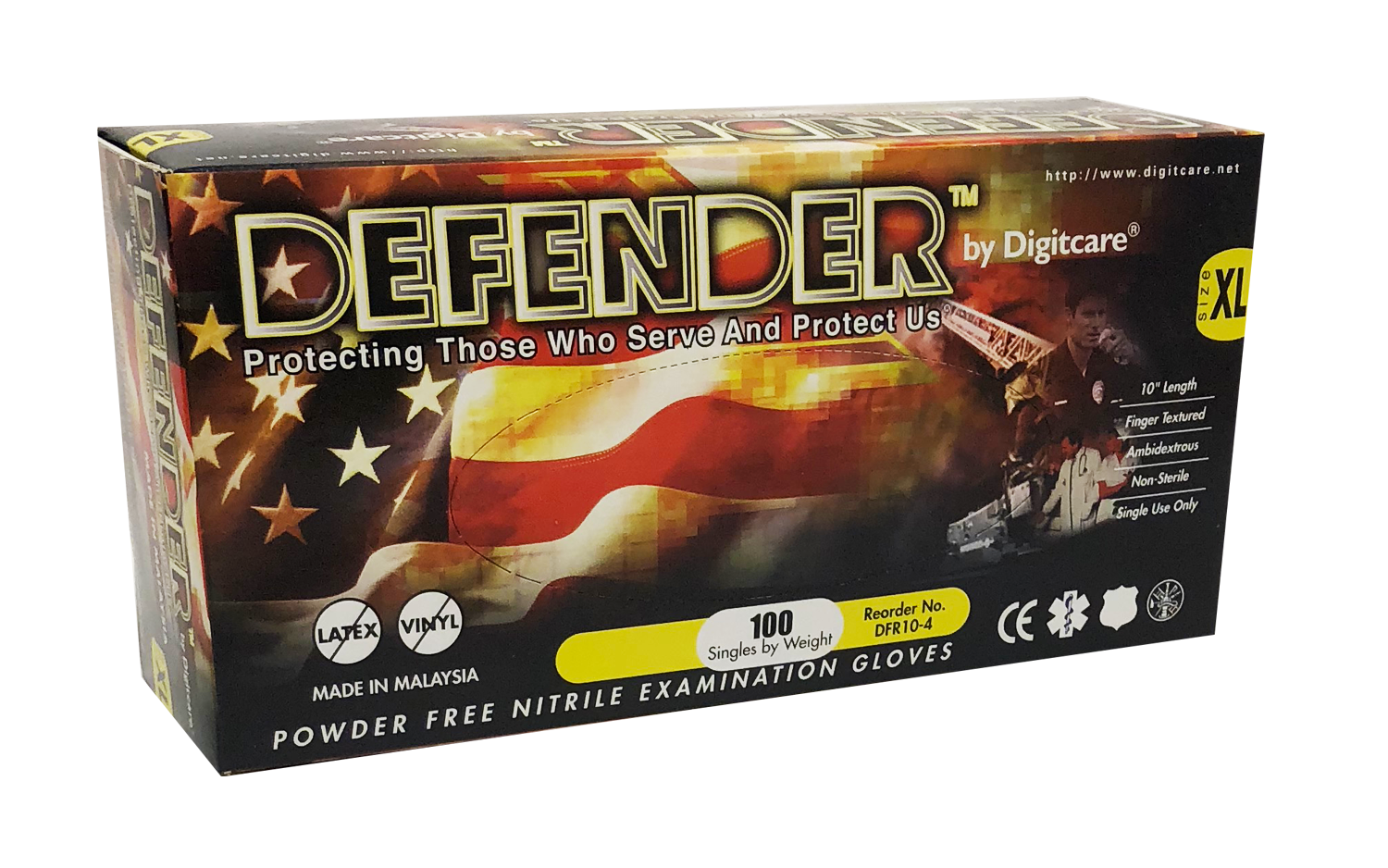 Defender™ Powder-Free Nitrile Exam Gloves