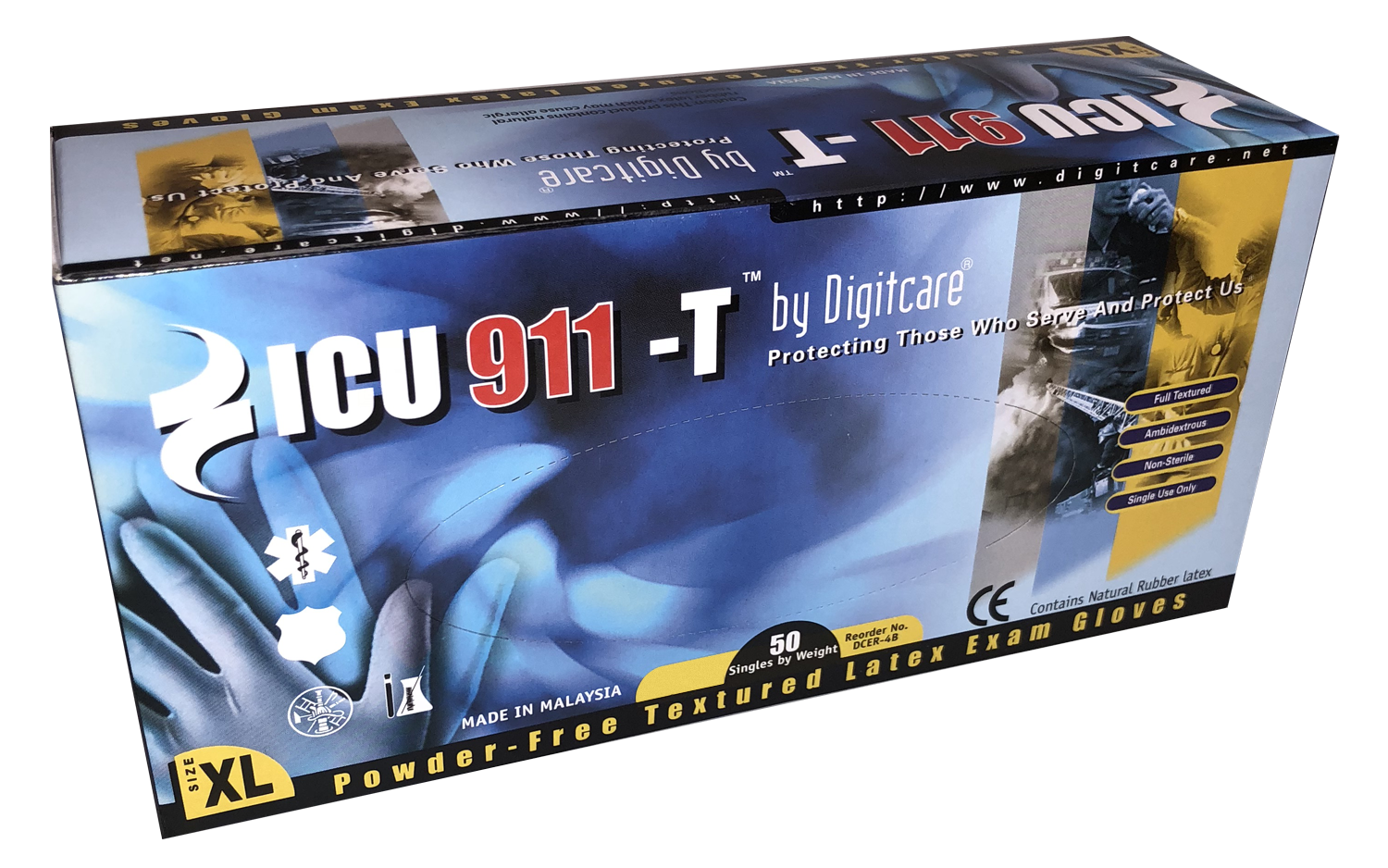 ICU911-T™ Powder-Free Latex Exam Gloves