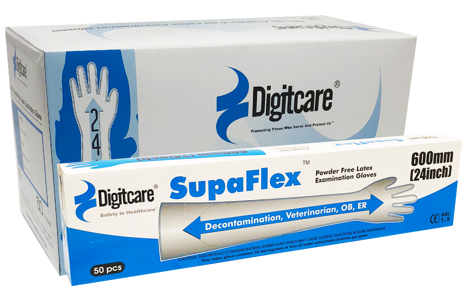 SupaFlex Powder-Free Latex Exam Gloves